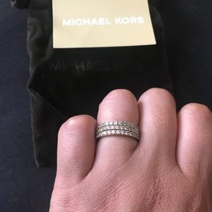Michael Kors Gold Stacked Rings Sz 6